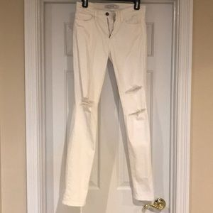 Joe's Jeans High Rise White distressed jeans